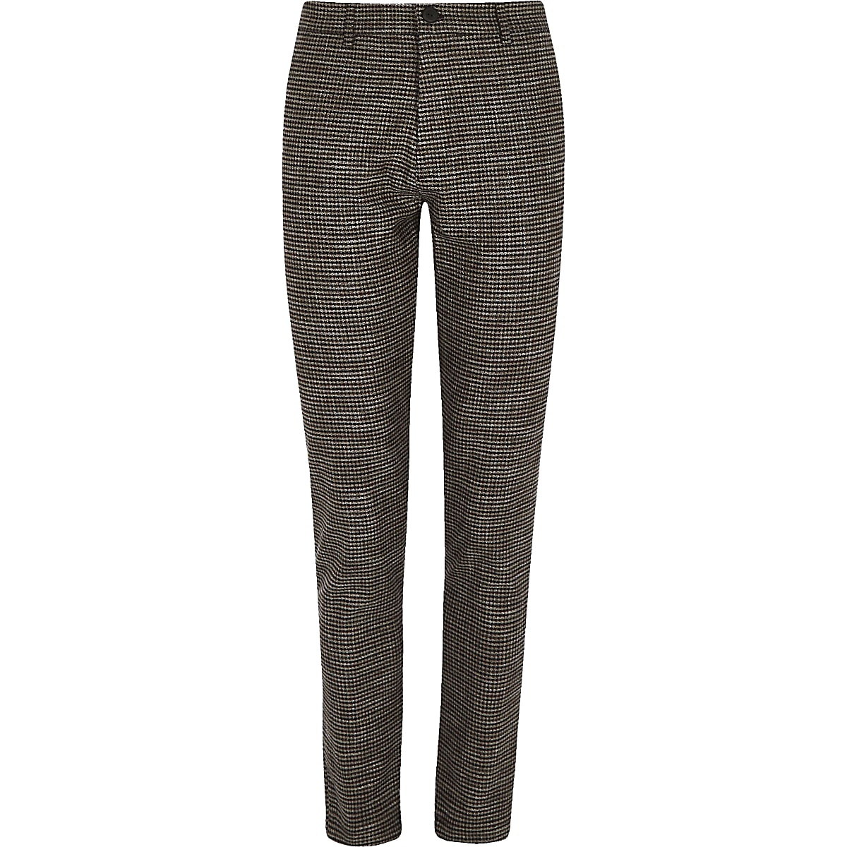 fed28f970617 Brown houndstooth stretch super skinny pants - Casual Pants - Pants ...