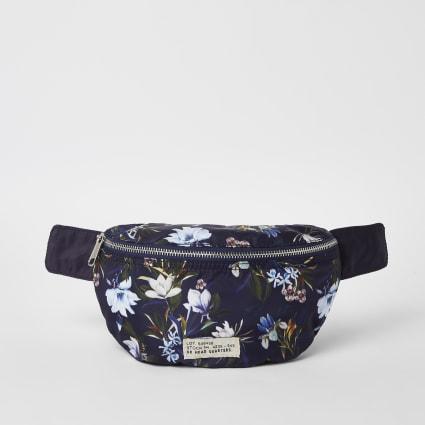 Blue floral cross body bag