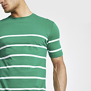 Minimum green stripe T-shirt
