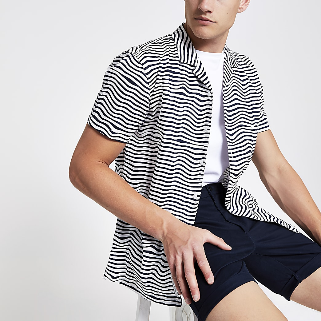 Minimum white stripe regular fit shirt