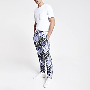 Minimum – Blaue Hose mit Print