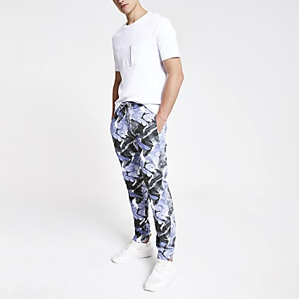 Minimum blue printed trousers