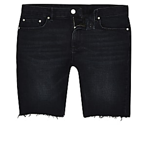 Big and Tall - Zwarte en blauwe skinny-fit short