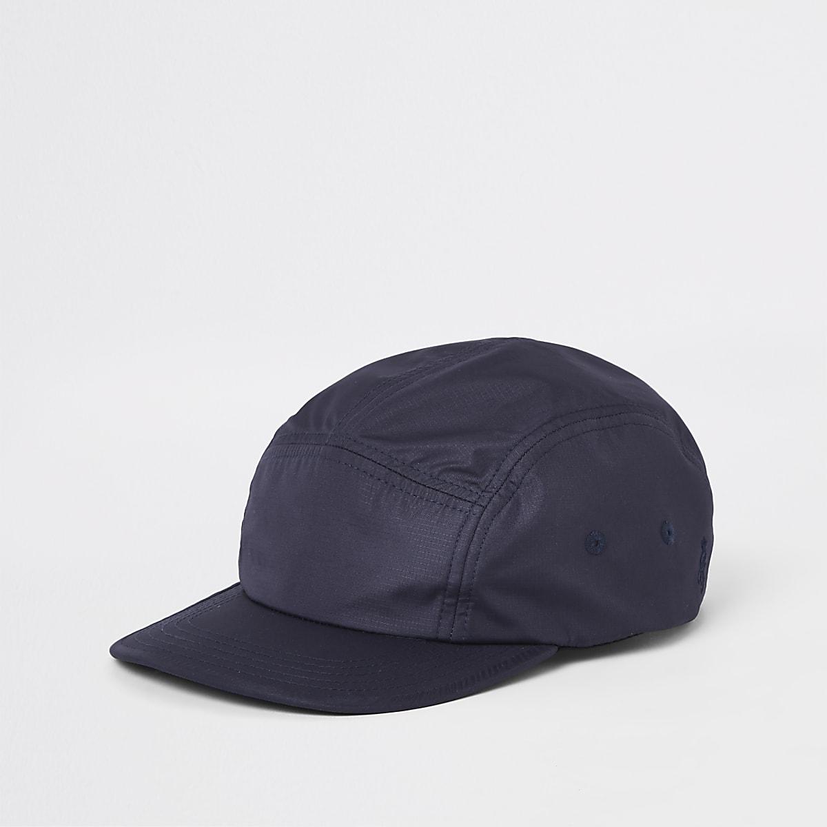 Navy panel detail cap