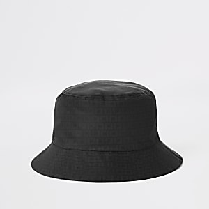 Zwarte bucket hat met RI-monogram