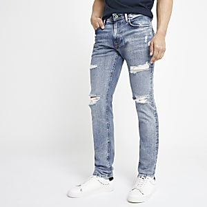 Pepe Jeans - Stanley - Lichtblauwe ripped jeans