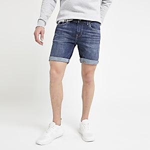 Pepe Jeans – Short slim en denim bleu