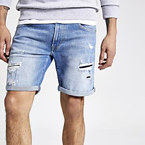 Pepe Jeans – Short en denim slim bleu clair
