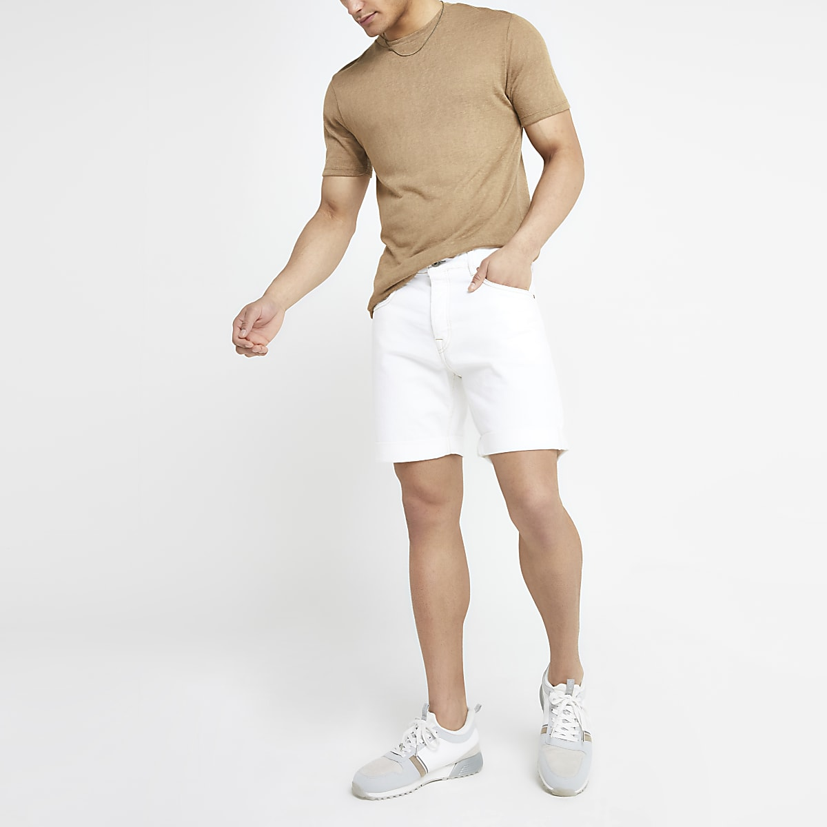 Pepe Jeans white Belife denim shorts