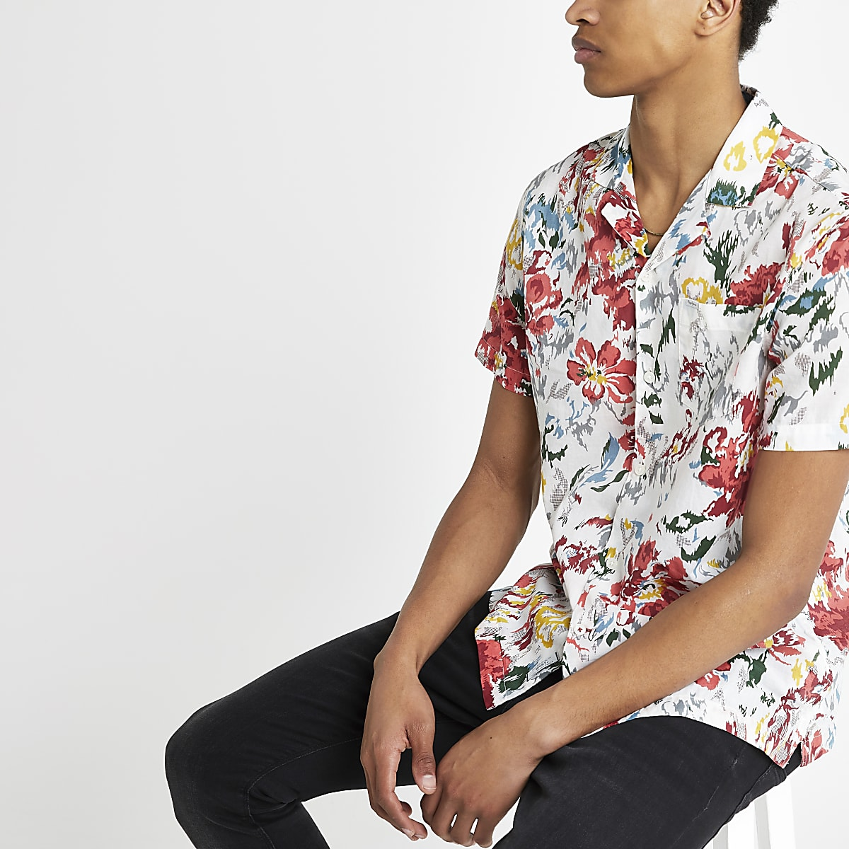 Pepe Jeans – Rotes, bedrucktes Hemd