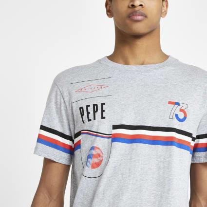 Pepe Jeans grey print T-shirt