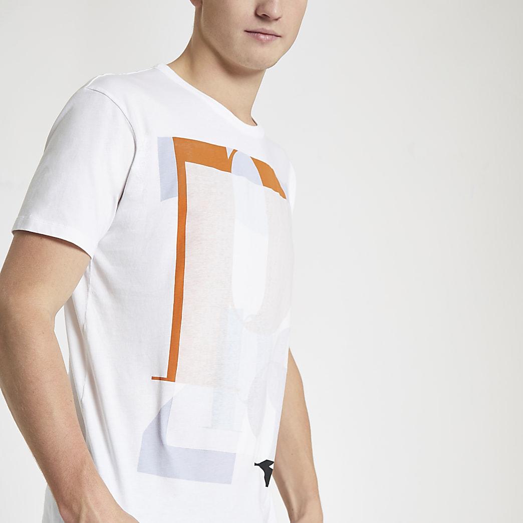 Pepe Jeans – T-shirt ample imprimé blanc