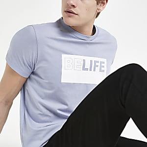Pepe Jeans - Blauw T-shirt met 'Belife'-print