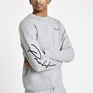 Grey marl Prolific slim fit sweatshirt