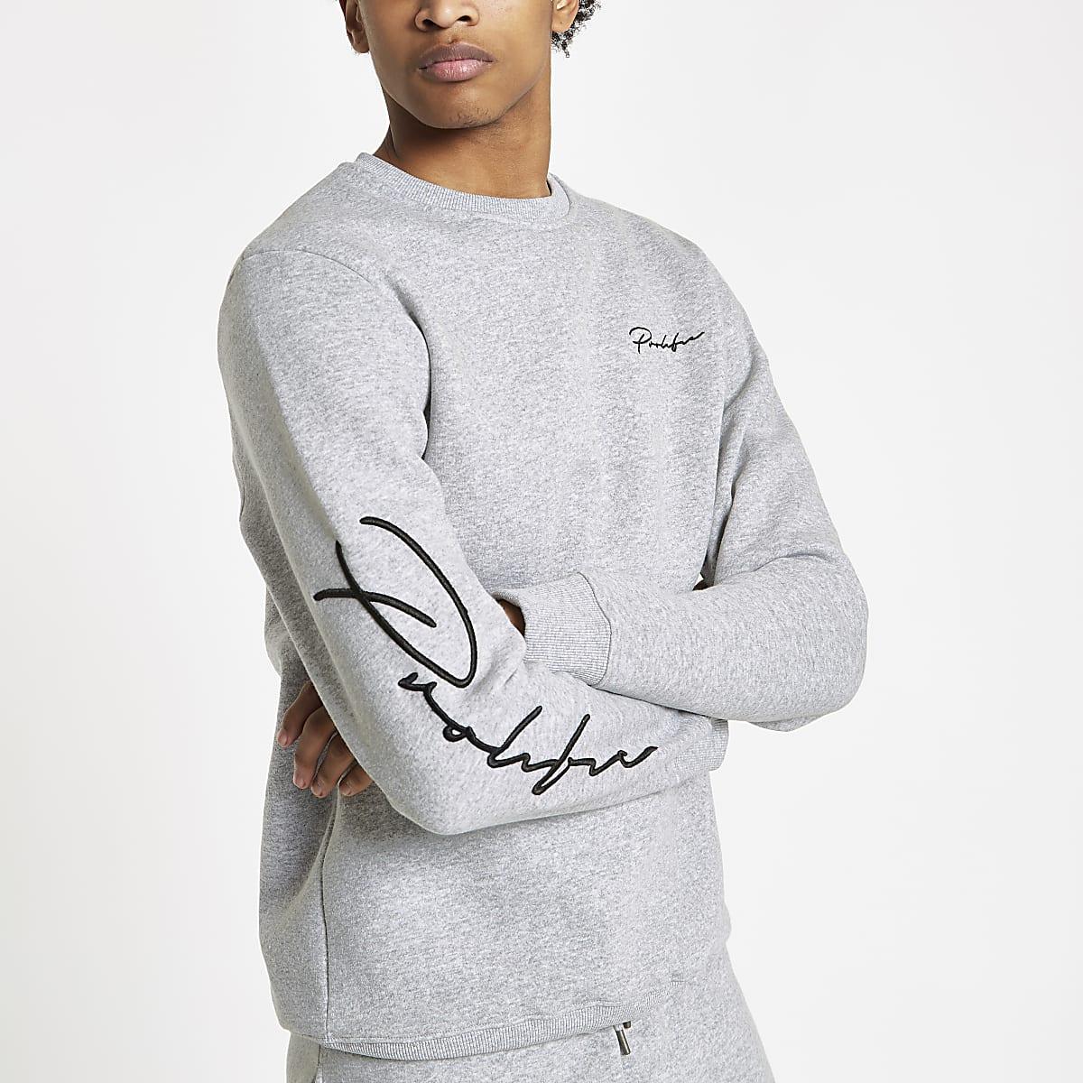 Grey marl Prolific slim fit sweatshirt