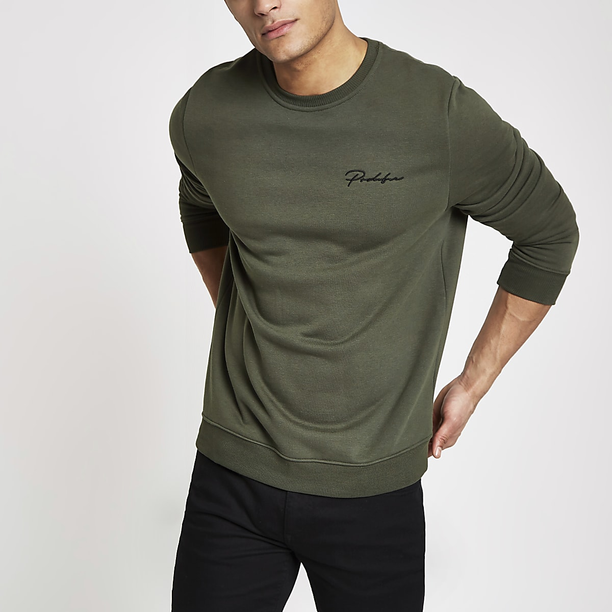 Khaki green Prolific slim fit sweatshirt