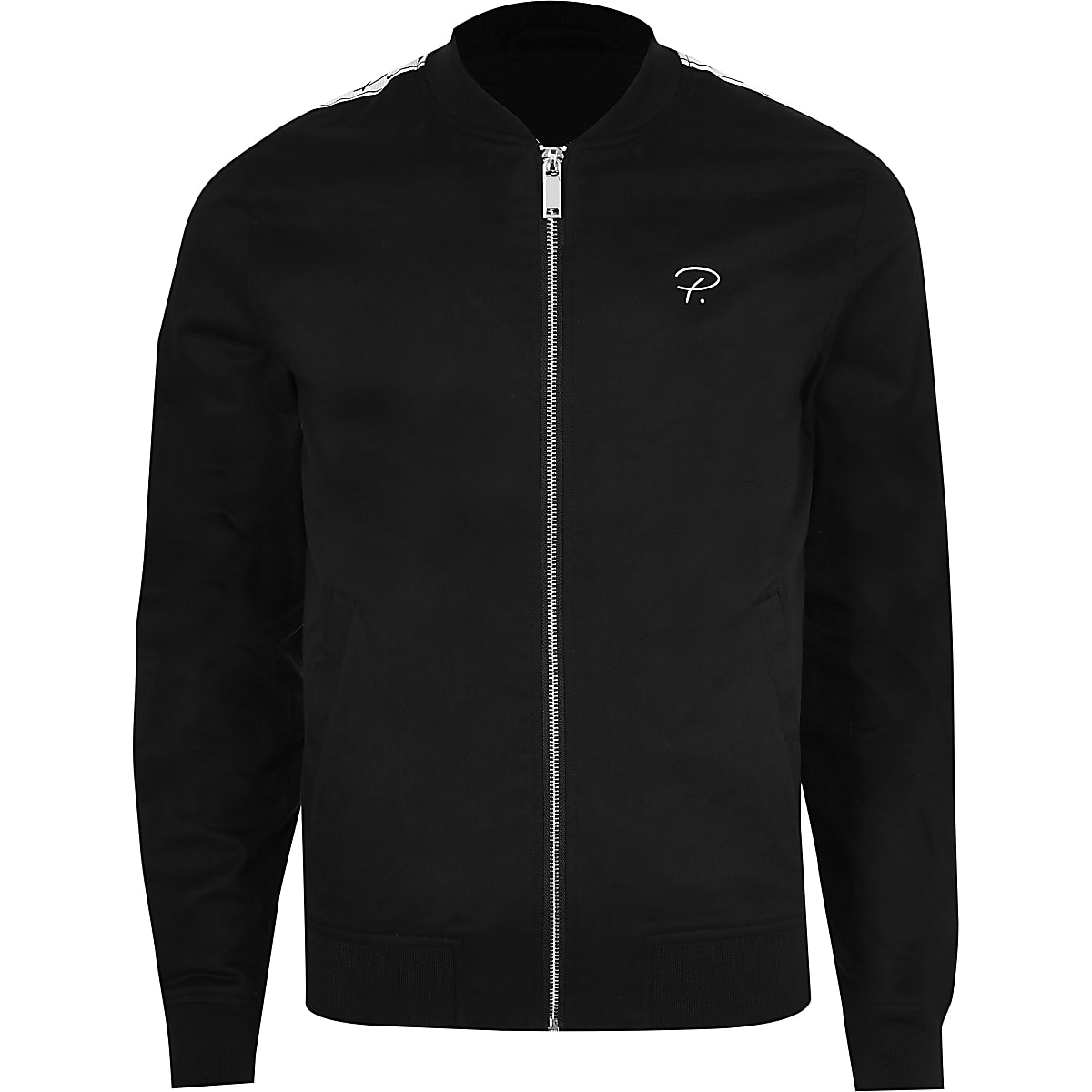 0b590eaf8 Black Prolific muscle fit bomber jacket