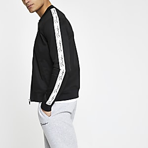 Black Prolific muscle fit bomber jacket