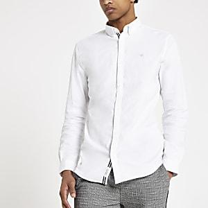 Chemise Oxford ajustée blanche