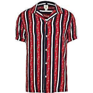 Big & Tall – R96 – Rotes Hemd mit Streifen