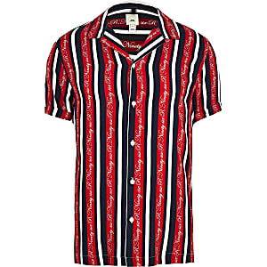 Big and Tall - R96 - Rood gestreept overhemd