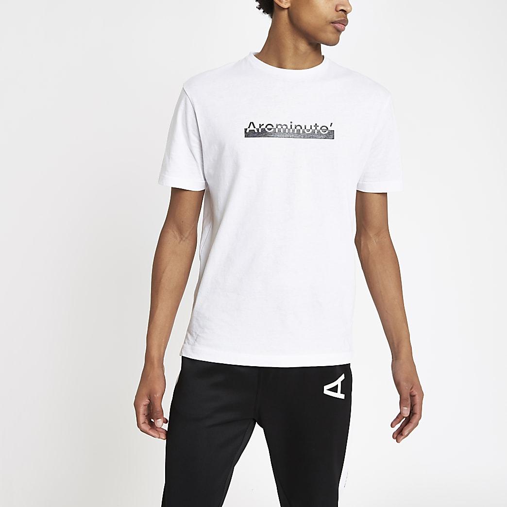 Arcminute – T-shirt à logo imprimé blanc