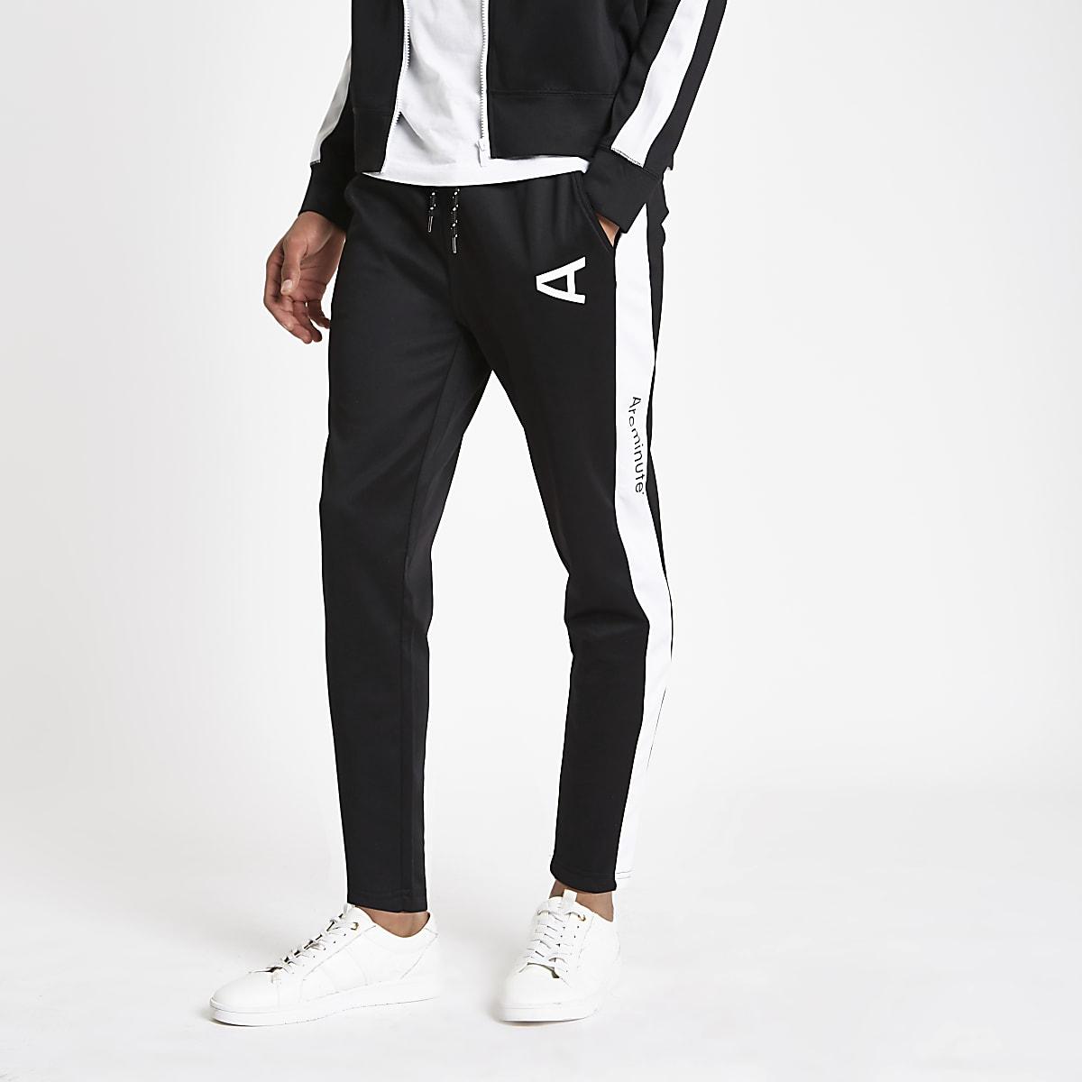 Arcminute black logo joggers