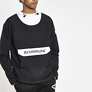 Arcminute black popover jacket
