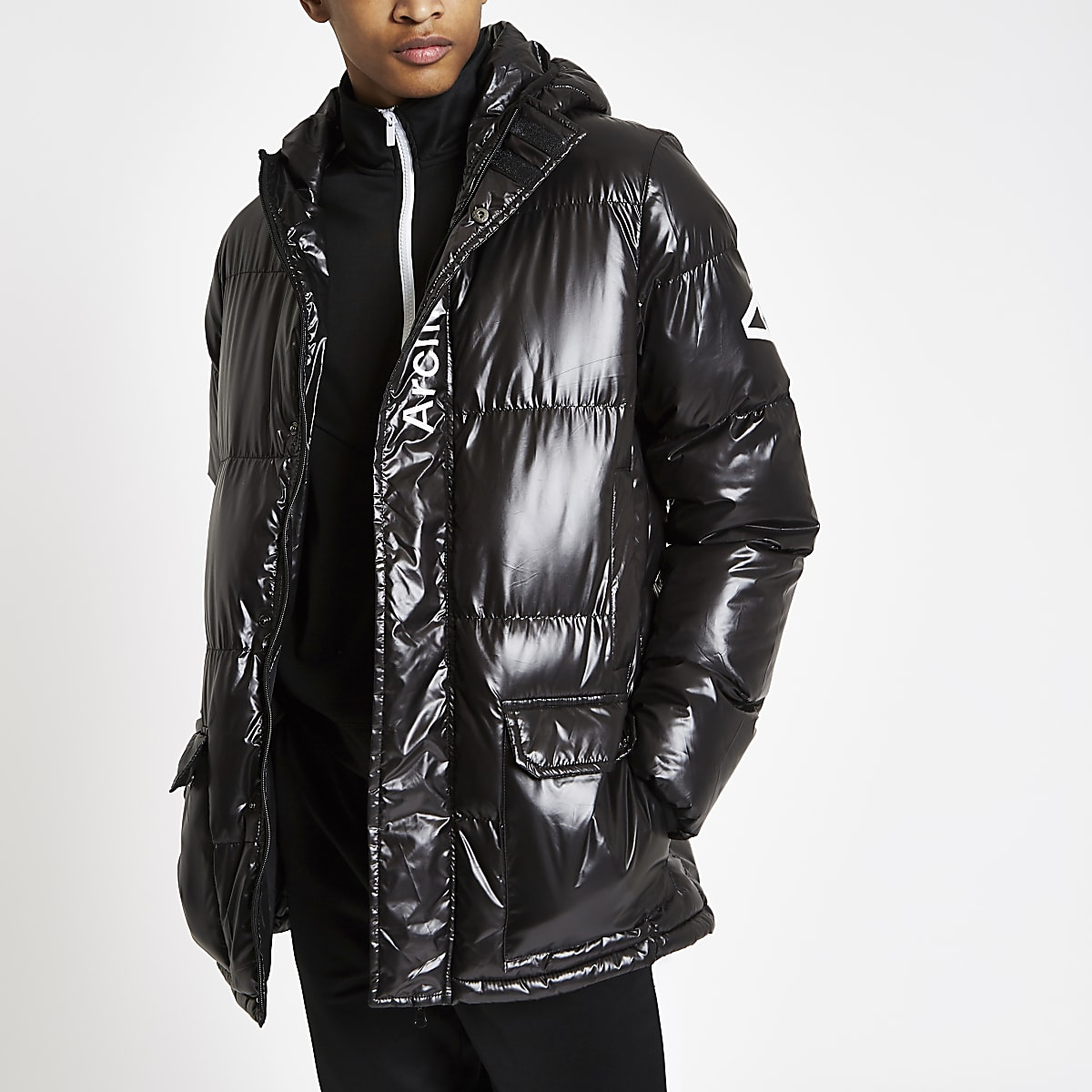 8a11a8aa5b15 Arcminute black quilted jacket - Coats - Coats & Jackets - men