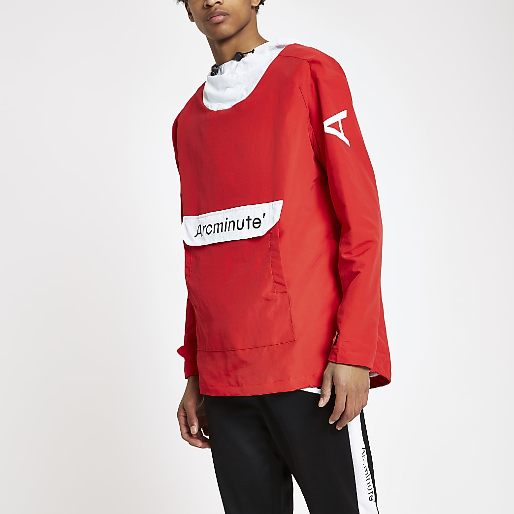 Arcminute red popover jacket