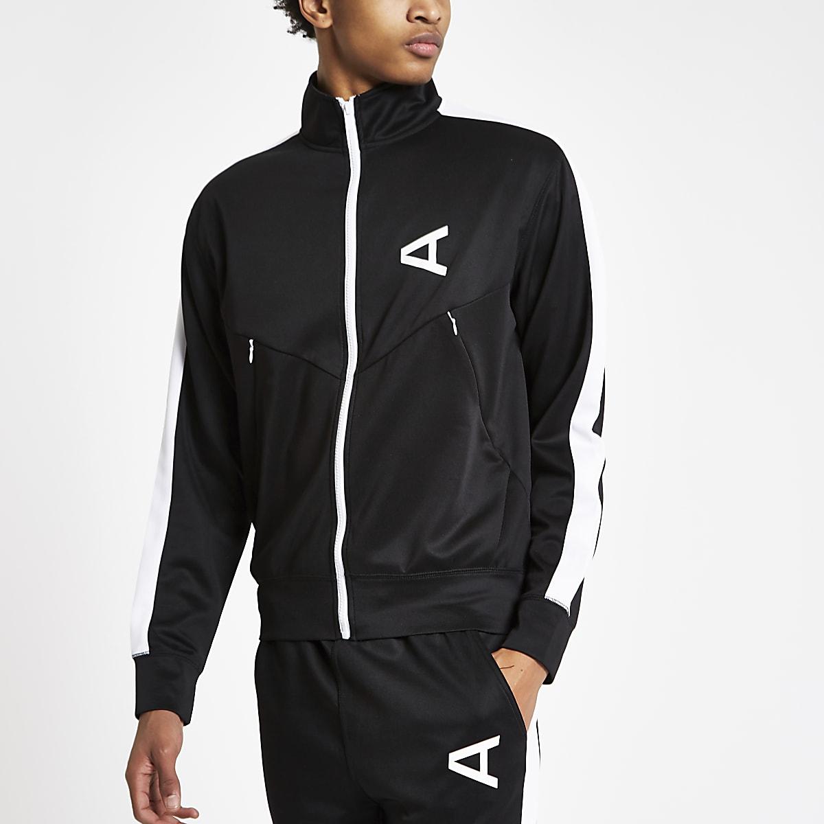 Arcminute – Schwarze Trainingsjacke mit Tunnelkragen