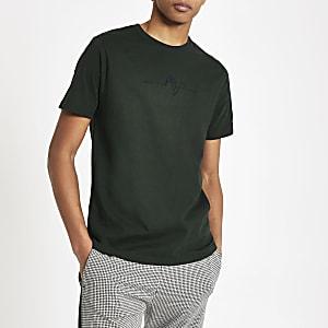 Groen 'Maison Riviera' slim-fit T-shirt