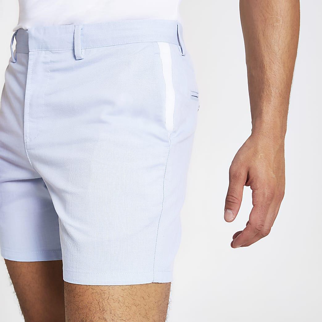 Short Oxford slim bleu clair