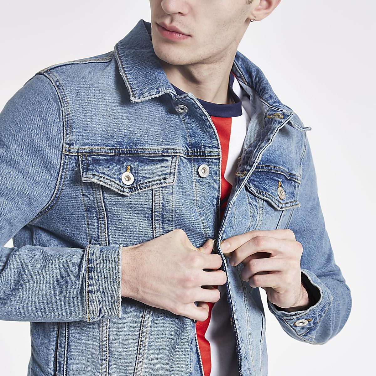 Blue wash denim jacket