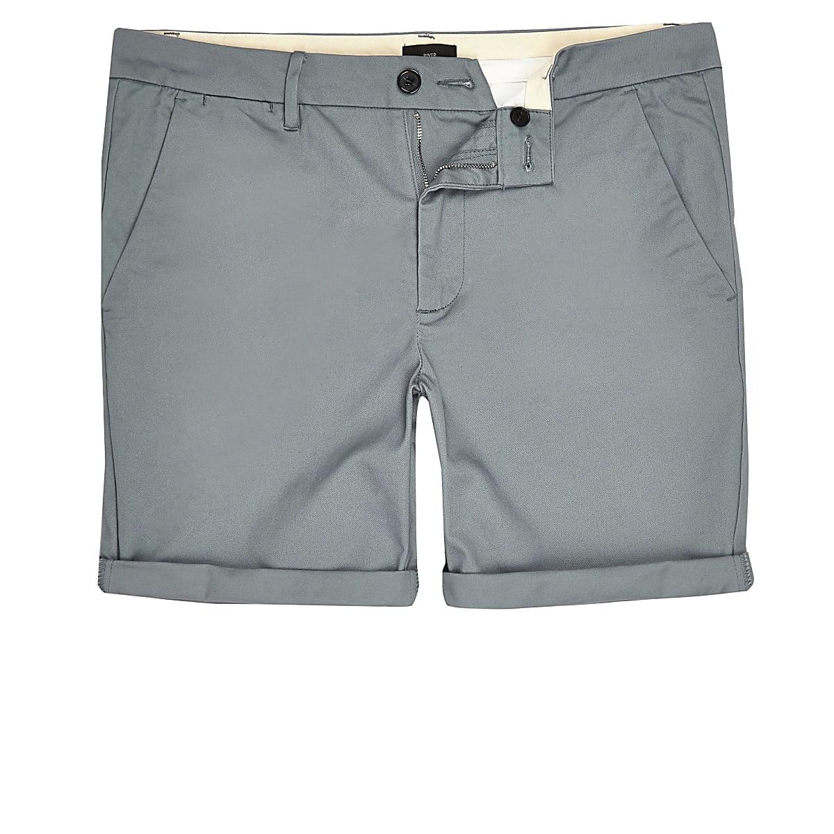 Big & Tall – Short chino skinny bleu