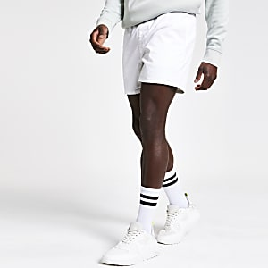 Witte slim-fit short