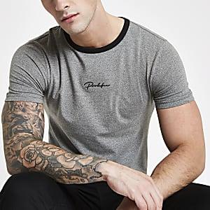 Grijs 'Prolific' nauwsluitend T-shirt