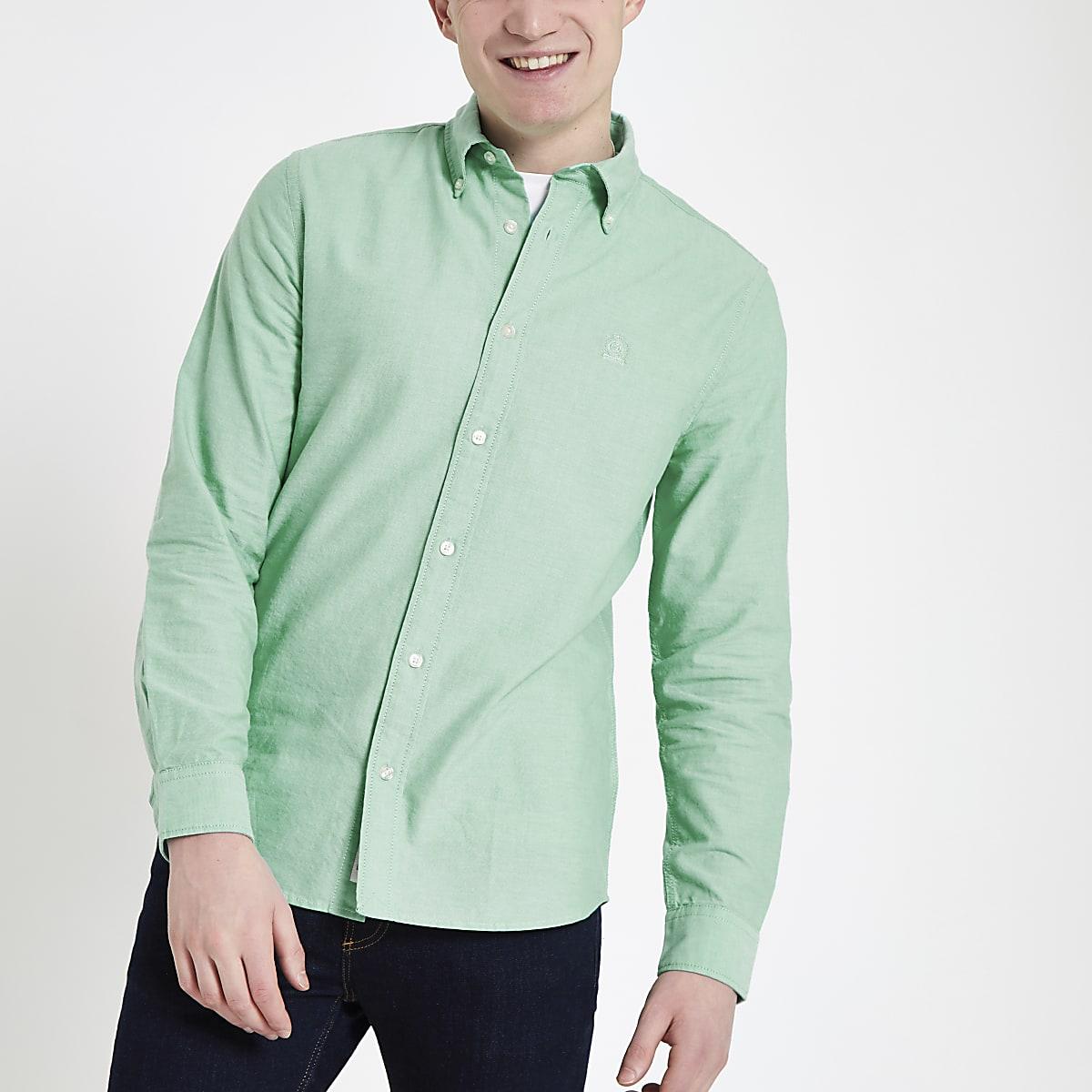 Mintgroen Heren Overhemd.Mintgroen Oxford Overhemd Met Lange Mouwen Overhemden Met Lange