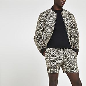Figurbetonte Shorts mit Print
