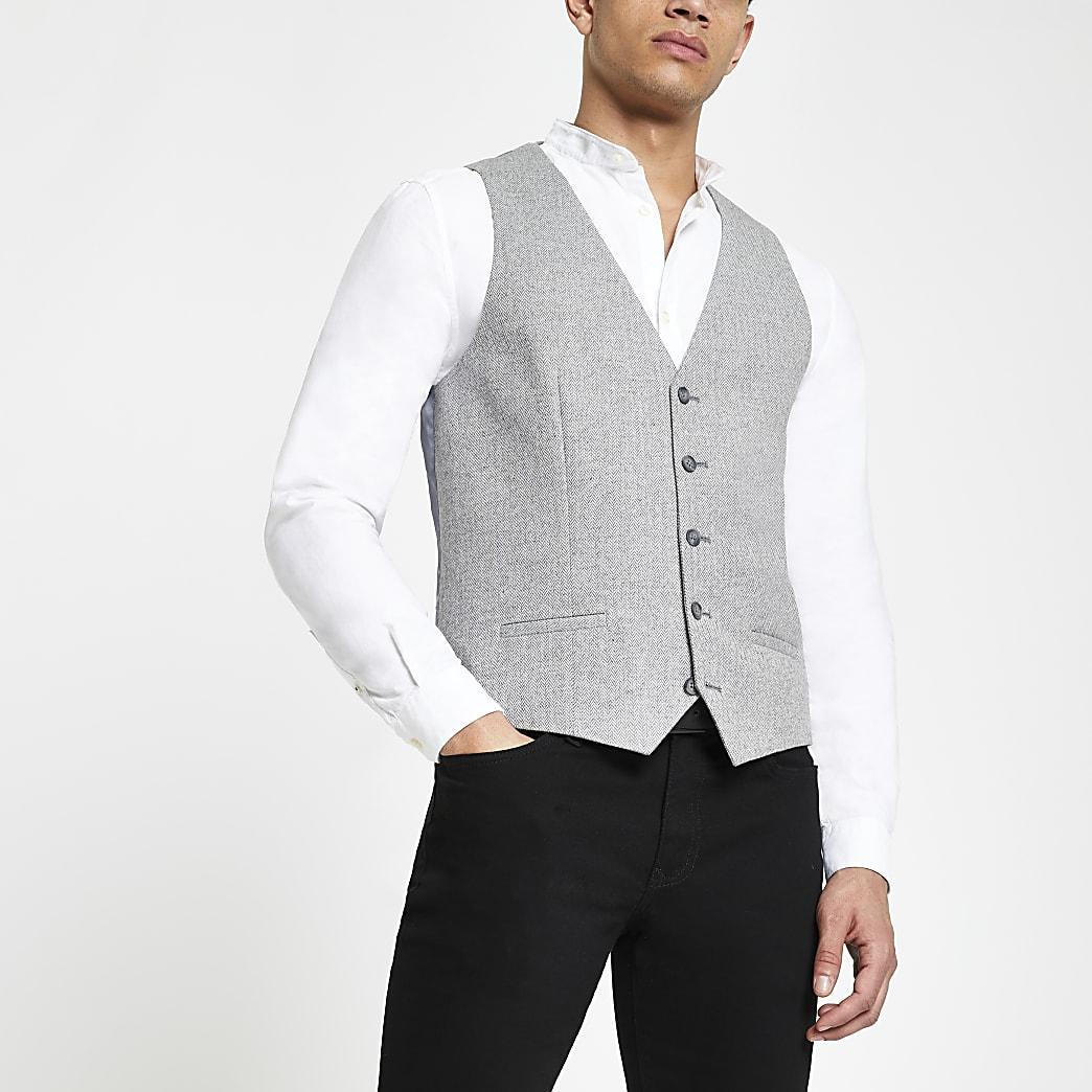 Gilet de costume gris