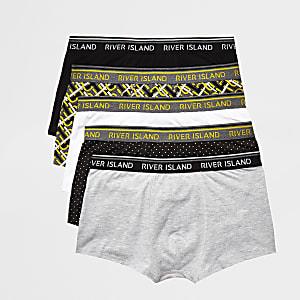 Gelbe Hipster-Slips mit Print, 5er-Pack