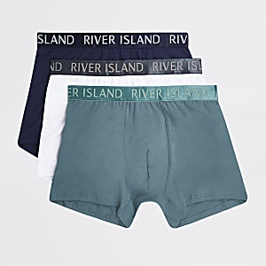 Set van 3 strakke boxers met RI-logo in blauw en andere kleuren