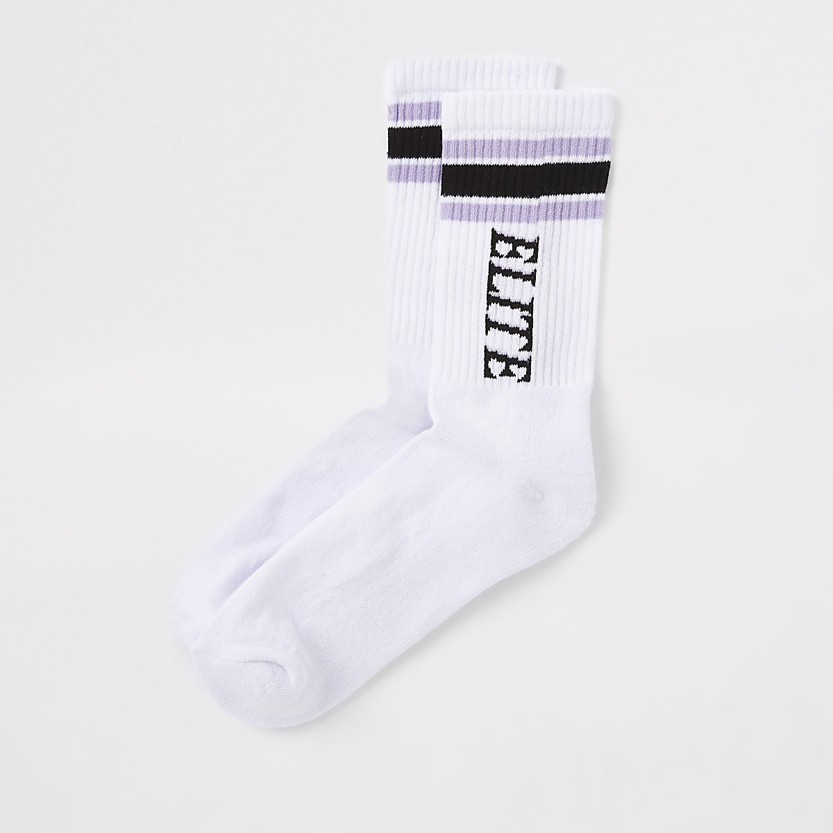 White 'Elite' tipped tube socks