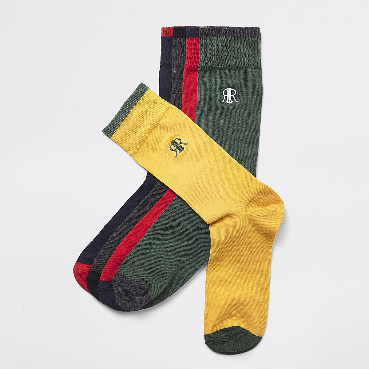 Red RI multicoloured socks 5 pack