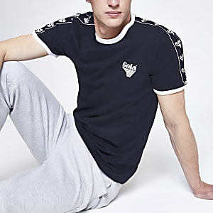 Gola navy tipped crew neck T-shirt