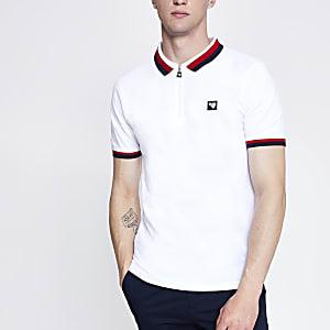 Gola white zip polo shirt