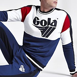 Gola – Blaues Sweatshirt mit Logo