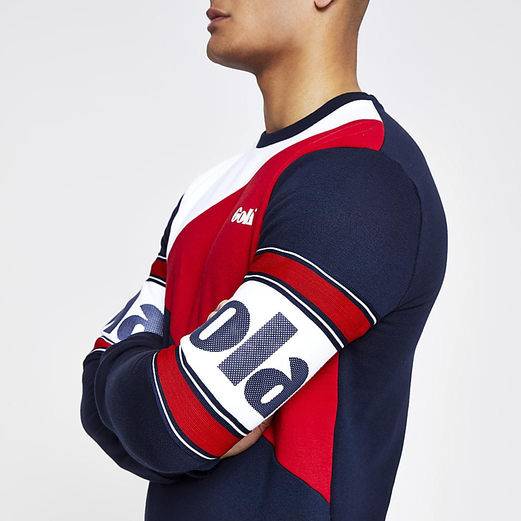 Gola navy block sweatshirt