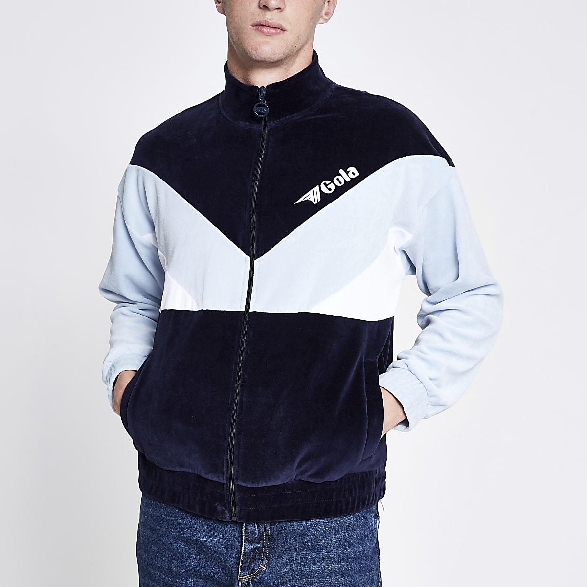 Gola blue zip track top