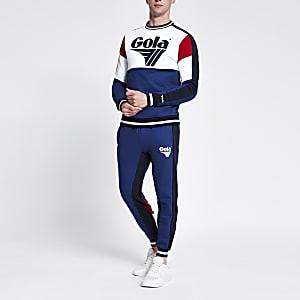 Gola – Pantalon de jogging colour blocl bleu foncé